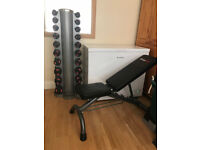Bodymax Dumbell Set 1-10KG with Stand + Bench UNUSED!!!