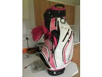 Sun Mountain Ladies golf bag, including hood and carry strap