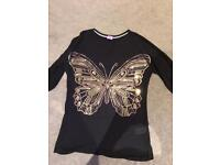 Butterfly Sequin Top Age 11-12