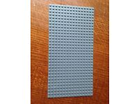 Lego dark grey base board 16x32
