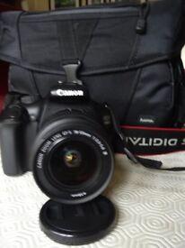 Canon EOS 1100D Camera and case