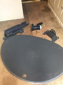 Sky dish, LMB and brackets. Official sky product stamped