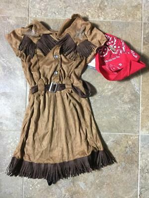 COWGIRL ~ Girl's Dress-Up  Halloween Costume ~ Size Small 4-6 ~ NEW - Cowgirl Dress Up Clothes