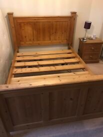 Solid Pine Double Bed Frame - SOLD