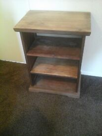 Solid wood bookcase with two shelves REDUCED
