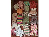 Baby girl big clothes bundle designers 0-3 months