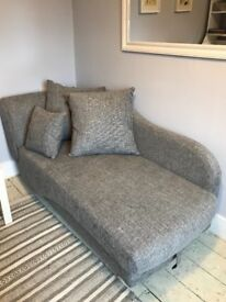 Sofa bed- chaise lounge -grey.