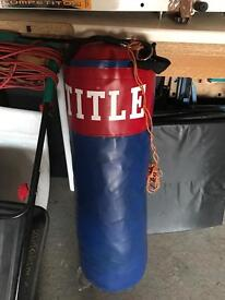 Title. Boxing punch bag