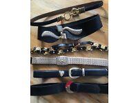 Women's vintage belts x6 size small