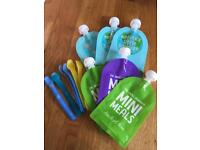 Reusable weaning pouches