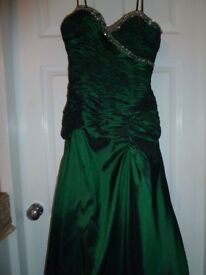 prom dress size 8 in emerald green