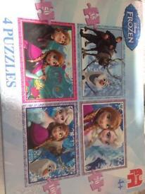 X4 Disney frozen puzzles