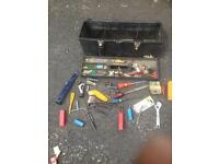Large Tool Box & Various Tools