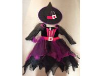 Girls Witch halloween dress up costume