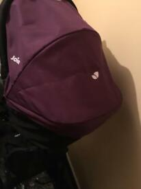 Joie pram + car seat + carrycot + sleeping cod