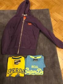 Super dry boys tops size smsll