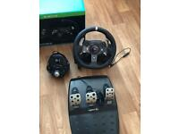 Xbox one steering wheel gear stick and pedals