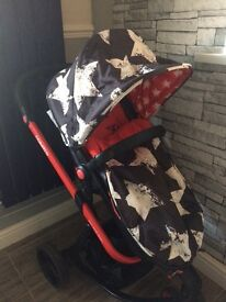 Cosatto pram carrycot and car seat cosy toes rain cover