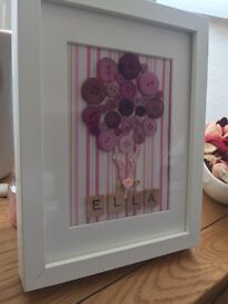 Personalised scrabble button frames
