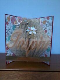 """Inspire"" book sculpture."