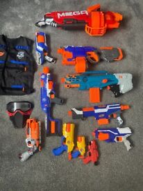 Collection of Nerf guns