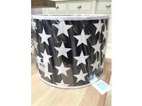 GLTC navy with white stars pendant lampshade