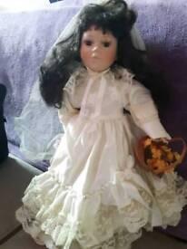 Bride porcelain doll