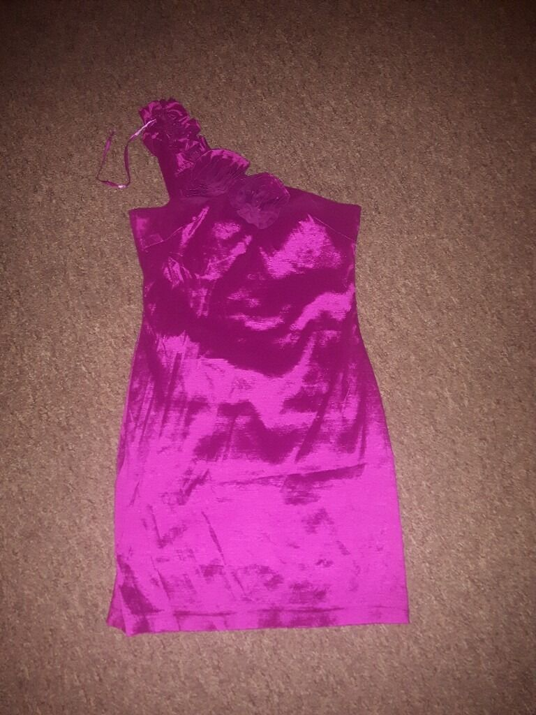Newlook Pink rose dress, size 14