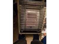 Used camping gas fire