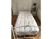 White single steel bed mattress free if wanted