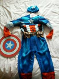 Captain america costume age 7-8 years
