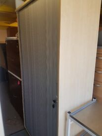 Lockable Large maple effect Tambour door hanging suspension file office cabinet