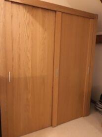 2 different Oak wardrobes.