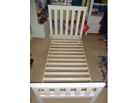 Jamestown Mothercare Cotbed in White (or a bundle with organic mattress & protector)