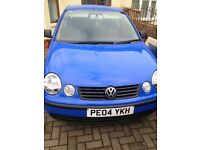 1.2 vw polo, 04, full engine rebuild, new struts, excellent car!