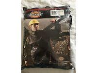 Waterproof suit, new in packet. Dickies brand in black. XXLG