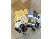 SONY Cyber Shot DSC-W17 Digital Camera - Special Black Edition With Black Leather Case