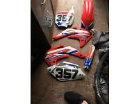 2007- Honda crf 150 panel with graphics