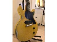 Loic Lepape Steel Les Paul Junior Double Cut - TV Yellow