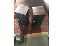 B &O SPEAKERS LARGE IN ROSEWOOD