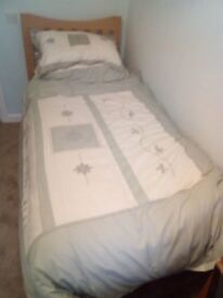 Single Divan bed with memory foam mattress