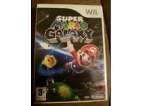 Wii super Mario galaxy game