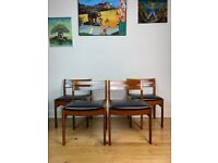 Mid Century 1960s Rosewood Dining Chairs Set of Four FREE LOCAL DELIVERY