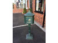 Cast Iron Green Post Box