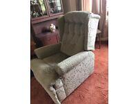 Soft green recliner chair
