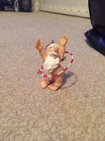 Hula hooping Santa Christmas decoration