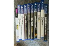 PS4 with 10 games and 2 controllers