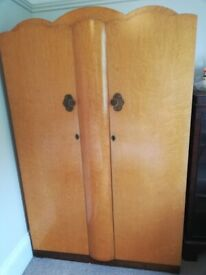 Art deco style 50s double wardrobe - available for collection