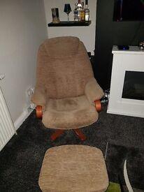 Beige Recliner Chair
