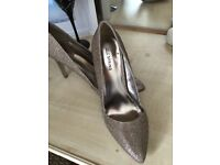 Gold/ bronze ladies stiletto shoes